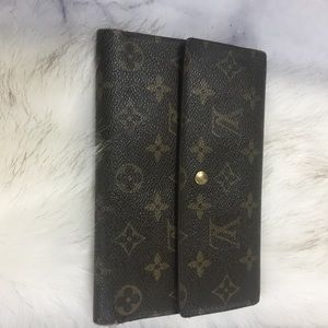 💯 Louis Vuitton vintage long french snap wallet